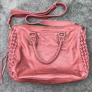 Liebeskind Berlin Wine Leather Handbag Purse Large